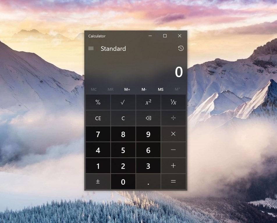 Старый калькулятор для Windows 10
